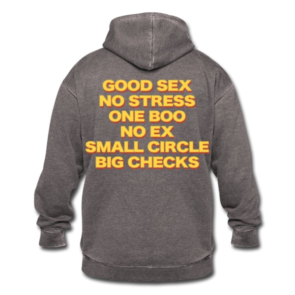 Good Sex, No Stress, One Boo, No Ex, Small Circle, Big Checks - Hoodie Unisex
