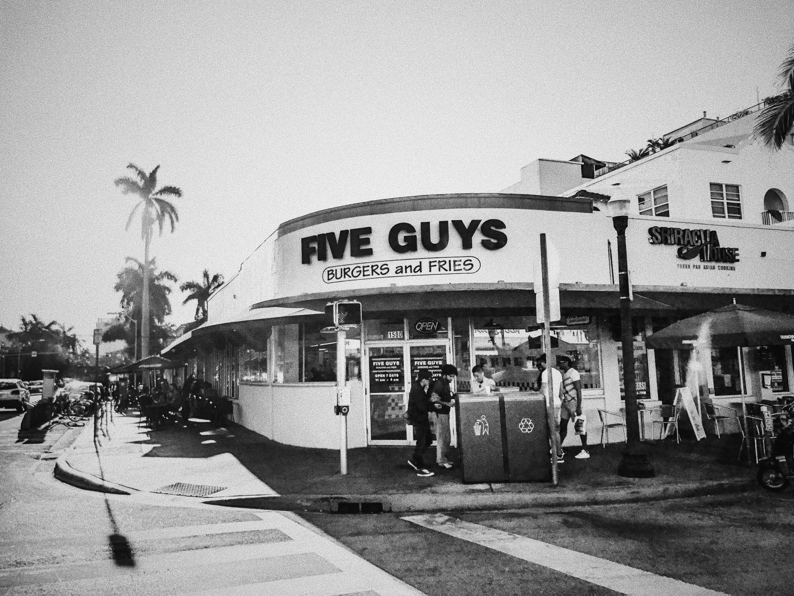 Five Guys in South Beach, Miami, Florida, USA